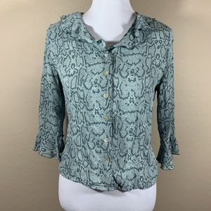 Tess Button Down Silk Blouse